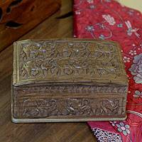 Novica :  jewelry box elephant forest wood jewelry box novica