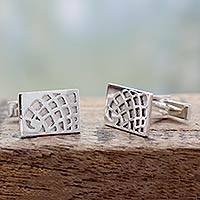 Sterling silver cufflinks,