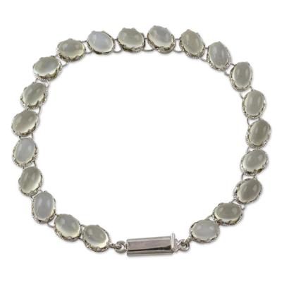 Indian Bracelet Moonstone on Sterling Silver