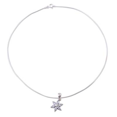Cubic Zirconia and Necklace Sterling Silver Necklace