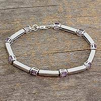 Amethyst tennis bracelet, 'Current'