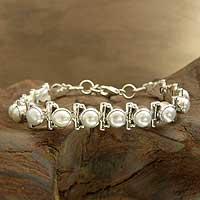 Pearl tennis bracelet,