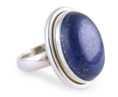 Lapis Lazuli Cocktail Ring in Sterling Silver Jewelry