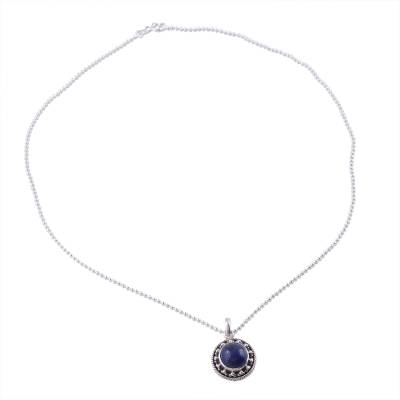 Artisan Handmade Lapis Lazuli Sterling Silver Necklace