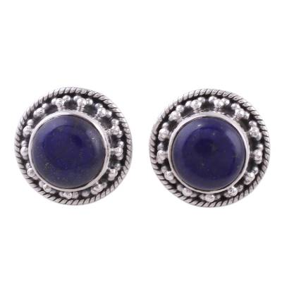 Artisan Crafted Sterling Silver Lapis Lazuli Earrings