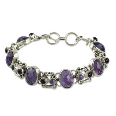 Amethyst Bracelet Handcrafted in Sterling Silver Jewelry