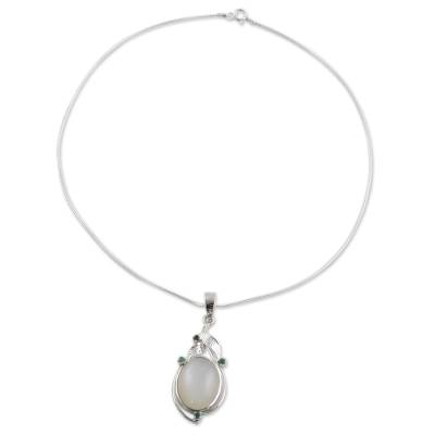 Fair Trade Jewelry Sterling Silver Moonstone Necklace