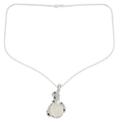 Fair Trade Jewelry Sterling Silver and Moonstone Necklace