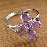 Amethyst ring, 'Mughal Princess' - Amethyst ring