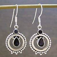 Iolite dangle earrings,