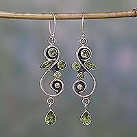 Peridot dangle earrings, Verdant Vine