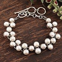 Pearl link bracelet,