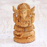 Wood statuette Ganesha s Mouse India