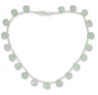 Chalcedony and Sterling Silver Artisan Crafted Necklace