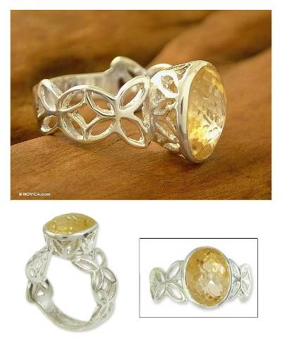Handcrafted Citrine Single Stone Ring