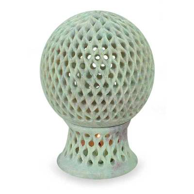Jali Soapstone Candle Holder Handcrafted in India
