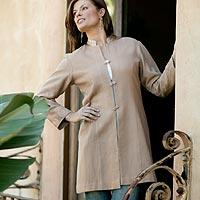 Wool jacket, 'Desert Rose' - Wool jacket