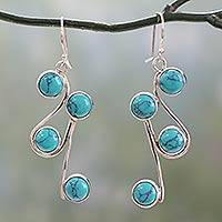 Sterling silver earrings, Delightful