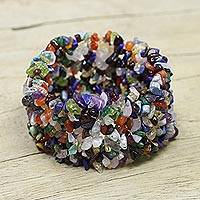 Featured review for Gemstone beaded bracelet, Rainbow Girl