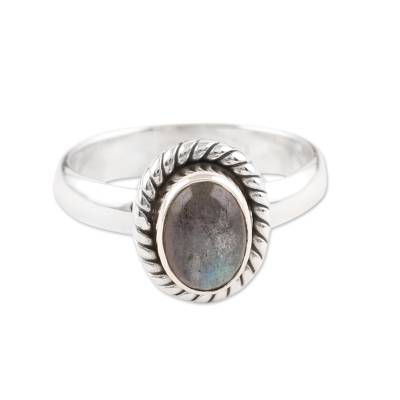 Fair Trade Jewelry Sterling Silver Labradorite Ring