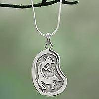 Sterling silver pendant necklace, 'Piper's Song' - Sterling Silver Pendant Necklace