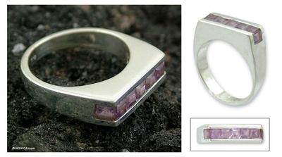 Modern Amethyst Ring