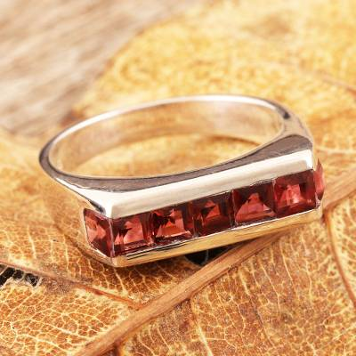 cheap ring mountings - Garnet cocktail ring