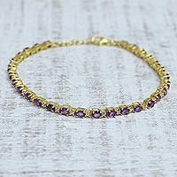 Gold vermeil amethyst tennis bracelet,