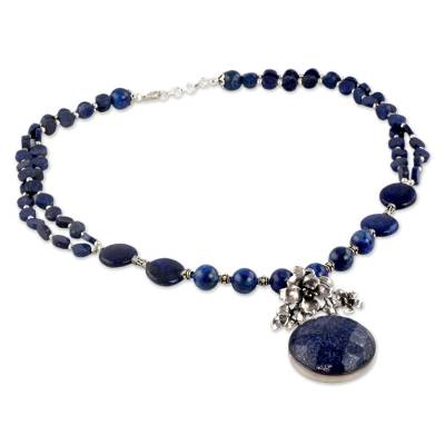 Handmade Sterling Silver Necklace Lapis Lazuli Jewelry