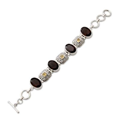 Fair Trade Sterling Silver Smoky Quartz Bracelet