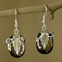 Smoky quartz dangle earrings, A Secret