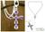 Amethyst cross necklace, 'Lilac Cross' - Amethyst cross necklace thumbail