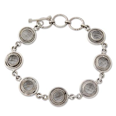 Quartz link bracelet