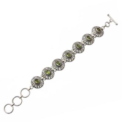 Sterling Silver Jewelry Peridot Bracelet