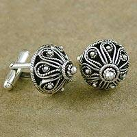 Sterling silver cufflinks, 'Star of India' - Sterling Silver Cufflinks Men's Jewelry