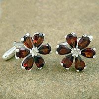 Garnet cufflinks,