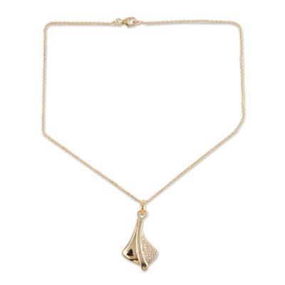 Modern Gold Vermeil and Garnet Necklace