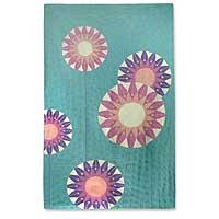 Chain stitched Kashmiri rug,