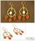 Gold vermeil carnelian chandelier earrings, 'Blossom' - Gold Vermeil Floral Earrings with Pearl and Citrine thumbail