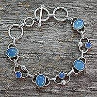 Featured review for Chalcedony link bracelet, Bliss
