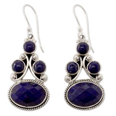 Sterling Silver Jewelry Lapis Lazuli Earrings