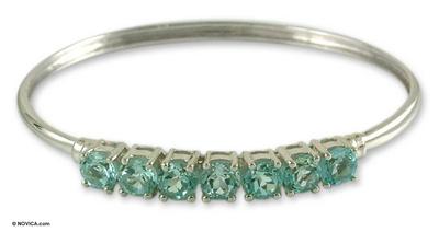 Blue topaz bangle bracelet