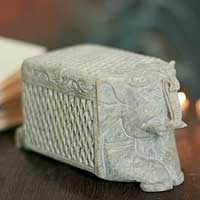 Soapstone box, White Elephant Treasure