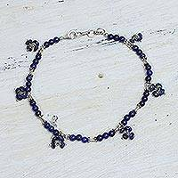 Lapis lazuli anklet,