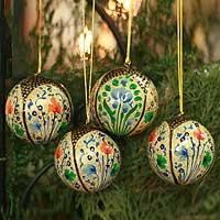 Ornaments, 'Holiday Galaxy' (set of 4) - Ornaments (Set of 4)