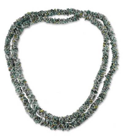 Artisan Crafted Turquoise Long Beaded Necklace from India