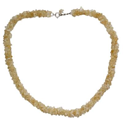Citrine beaded necklace