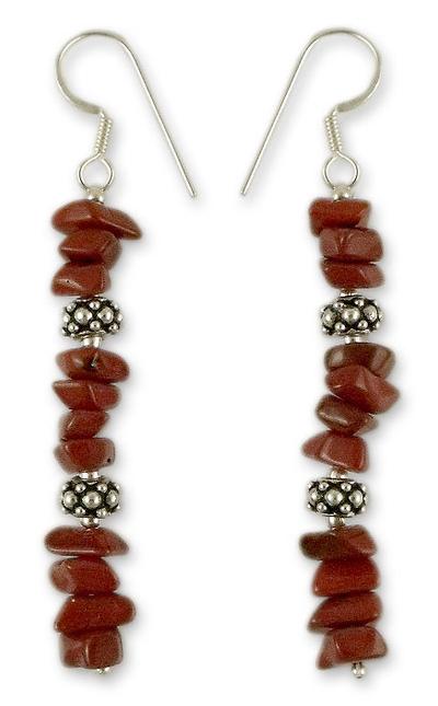 Jasper dangle earrings