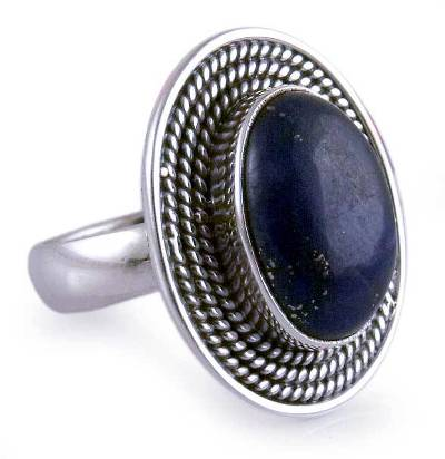 Lapis Lazuli Ring in Sterling Silver from India Jewelry