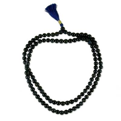 Artisan Crafted Sodalite Prayer Bead Necklace